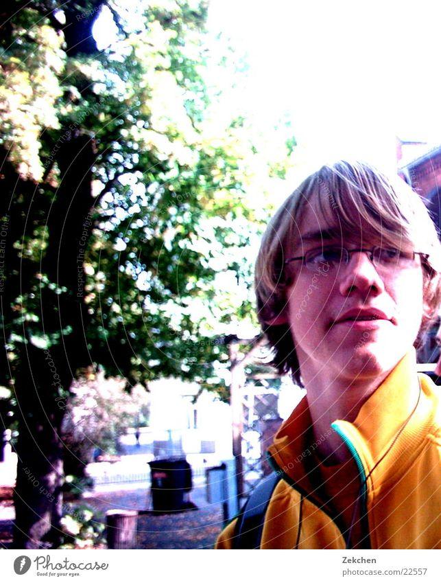 Tobias on the schoolyard Tree Man Schoolyard