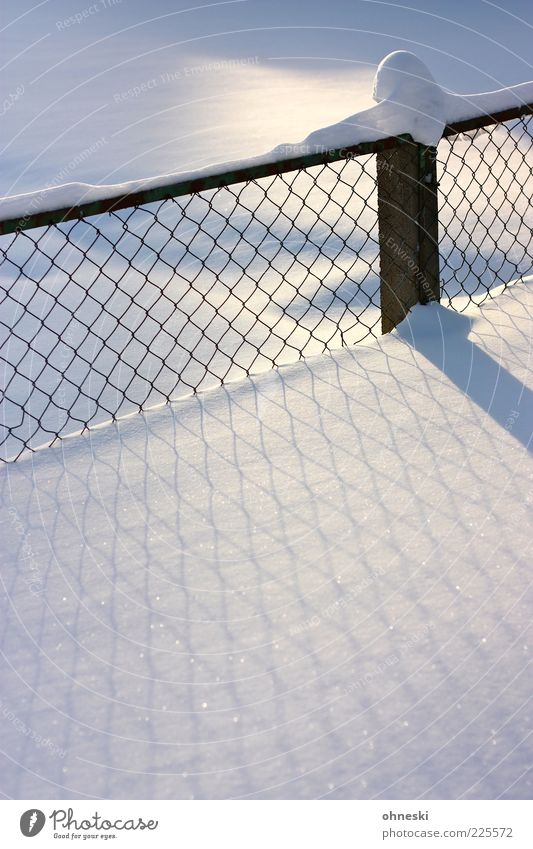 White Winter Calm Cold Snow Moody Ice Frost Peace Fence Beautiful weather Purity Snow layer Fence post Wire netting fence