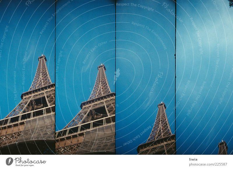 paris.paris.paris.paris Capital city Manmade structures Architecture Eiffel Tower Hope Future Paris Blue sky Stripe Steel carrier Tall Deserted Colour photo