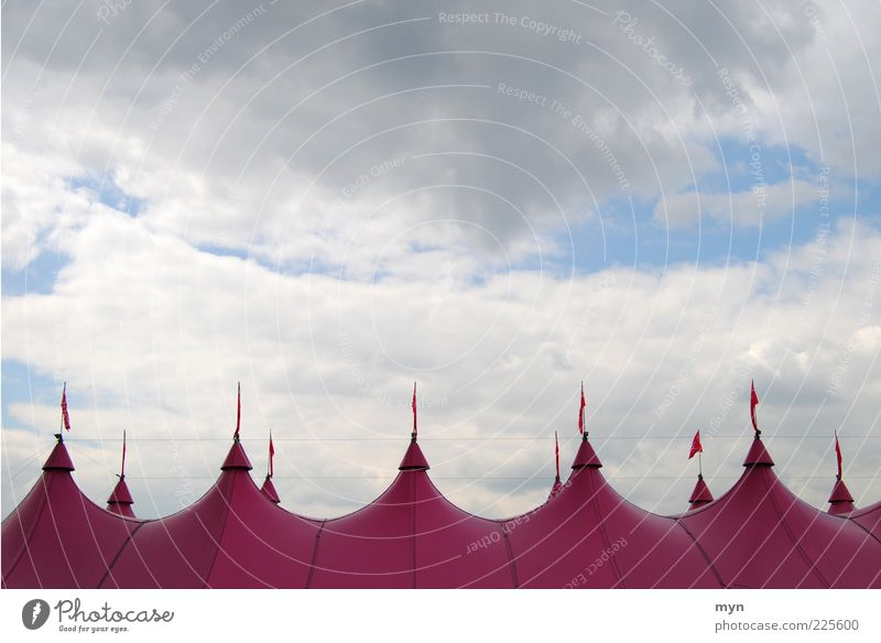 circus Entertainment Event Fairs & Carnivals Art Theatre Circus Culture Shows Sky Clouds Weather Storm Tent Plastic Relaxation Pink Moody Circus tent Flag