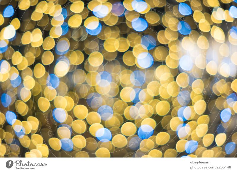 glittering stars on bokeh Luxury Design Decoration Feasts & Celebrations Christmas & Advent Glittering Dark Bright New Blue Yellow Red Black White Colour light