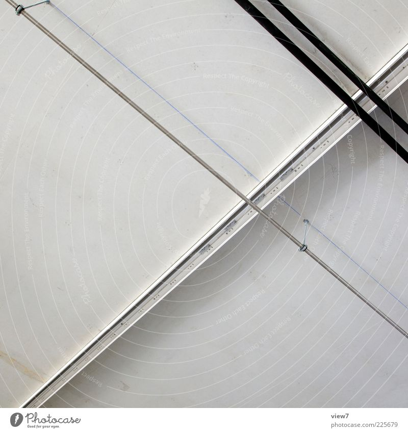 closed Wall (barrier) Wall (building) Facade Concrete Metal Line Stripe Thin Simple Fresh Modern Positive White Flexible Orderliness Beginning Effort Pipe