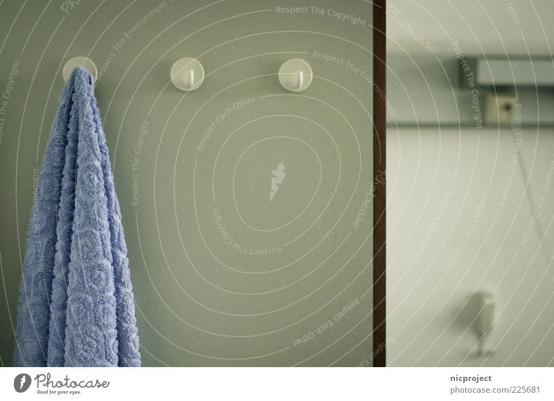luise Concern Distress Aachen Year Colour photo Subdued colour Interior shot Copy Space middle Shallow depth of field Towel Towel hook Gloomy Copy Space right