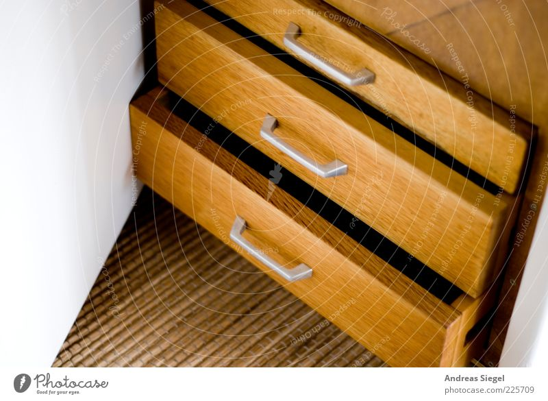 pigeonhole thinking Furniture Room Cupboard Drawer Wood Sharp-edged Simple Brown White Arrangement Open Undo Column Keep Colour photo Interior shot Detail