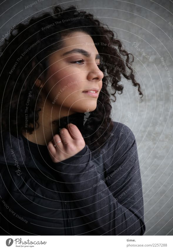 Woman Human being Beautiful Dark Adults Life Wall (building) Feminine Wall (barrier) Hair and hairstyles Esthetic Observe Friendliness Curiosity Discover