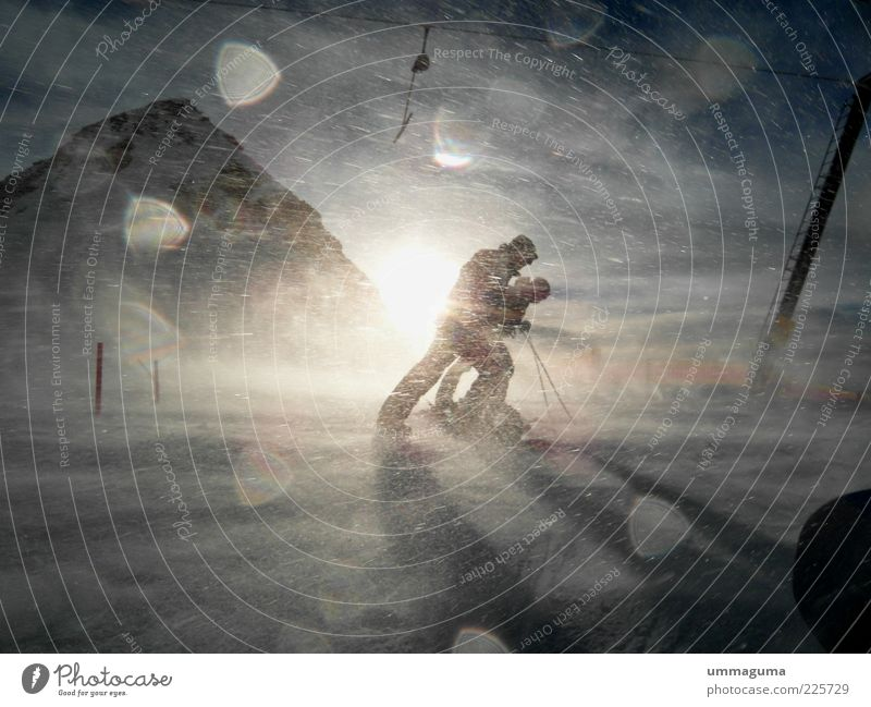 apocalypse snow Style Leisure and hobbies Sports Skiing Human being Environment Nature Landscape Sky Sun Sunlight Winter Climate Weather Beautiful weather Wind