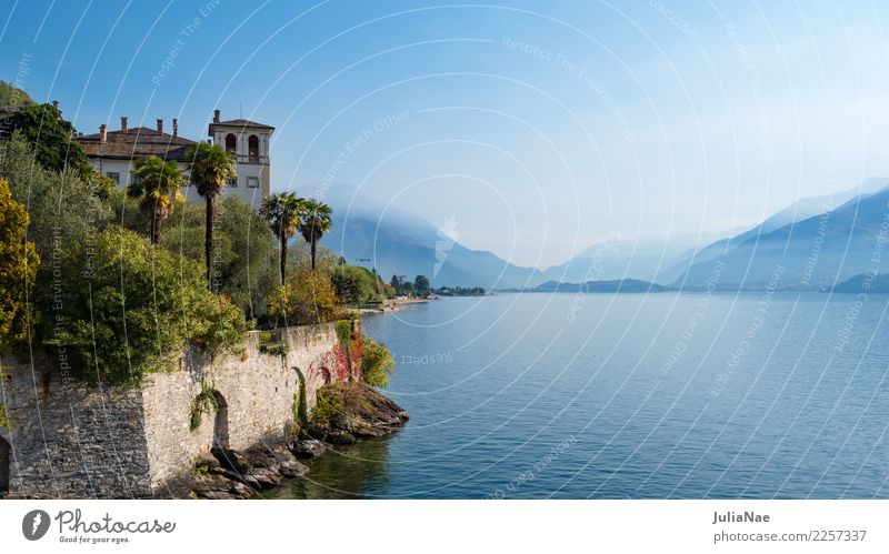 At Lake Como near Gravedonna Vacation & Travel Tourism Summer Mountain House (Residential Structure) Landscape Water Horizon Autumn Village Town Building Old