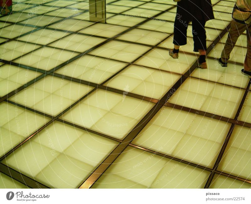 floor Checkered Yellow Square Architecture Feet