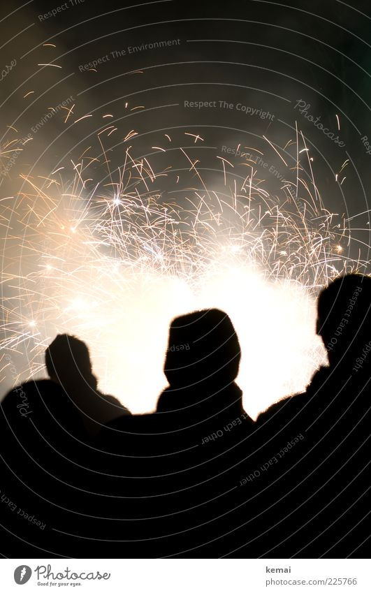 Human being Joy Life Dark Party Lamp Bright Feasts & Celebrations New Year's Eve Burn Firecracker Spark Spray Sparkler Pyrotechnics