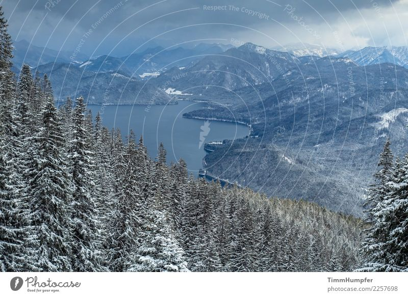 The Cold Adventure Winter Snow Mountain Hiking Nature Landscape Water Storm clouds Bad weather Wind Gale Snowfall Alps Peak Snowcapped peak Moody Optimism
