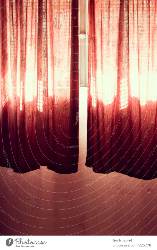 Red Wall (building) Window Wall (barrier) Lamp Bright Cloth Drape Hang Visual spectacle Shaft of light Colour X-rayed Cellar window