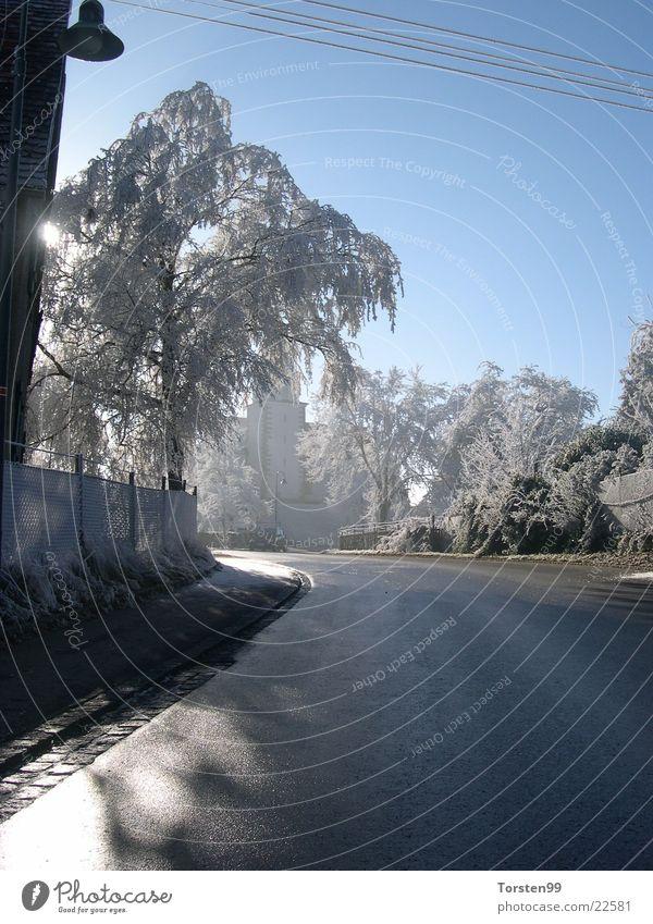 Winter Transport Frost Snowscape Hoar frost Shadow play
