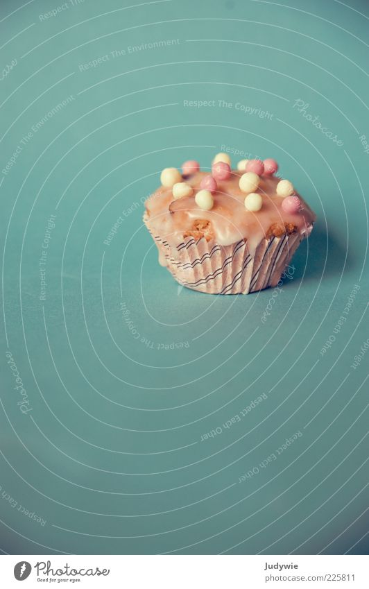 A cupcake for you Food Dough Baked goods Cake Candy Nutrition Decoration Muffin Icing Delicious Kitsch Sweet Blue Pink Sphere Multicoloured Colour photo