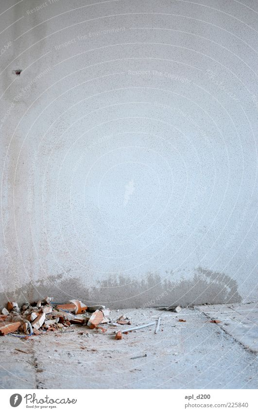 rubble and ashes Living or residing House (Residential Structure) Redecorate Moving (to change residence) Room Wall (barrier) Wall (building) Authentic Gray