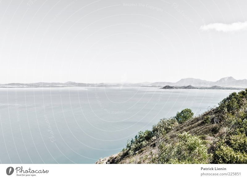 Sky Nature Water Plant Summer Ocean Far-off places Mountain Environment Landscape Coast Moody Air Weather Horizon Rock