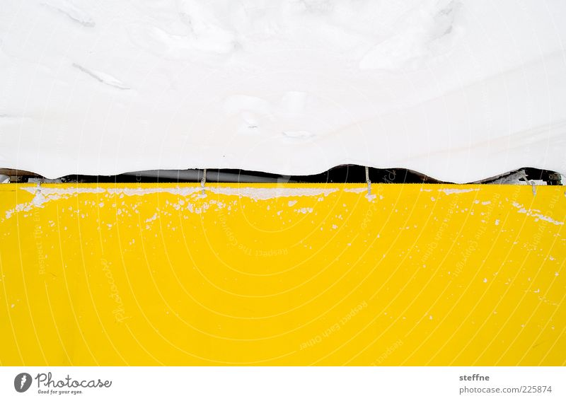 White Winter Yellow Cold Snow Abstract Gap Covers (Construction) Nature Multicoloured