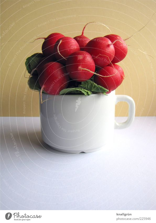 Be veggie! Food Vegetable Radish Nutrition Organic produce Vegetarian diet Diet Cup Fresh Healthy Delicious Round Red White raphanus sativus Bulb Root vegetable