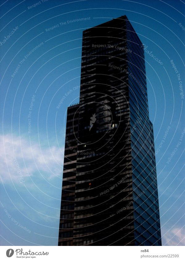 Dark Architecture Glass High-rise Modern Cologne Mediapark