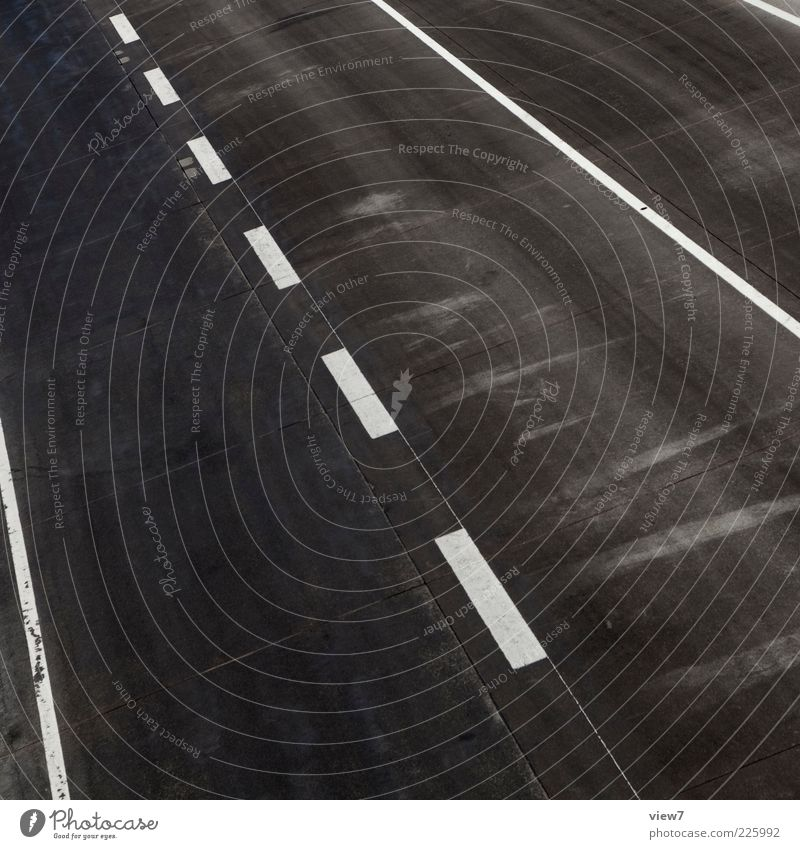 Far-off places Black Street Cold Above Lanes & trails Line Concrete Tall Arrangement Esthetic New Perspective Stripe Simple Logistics