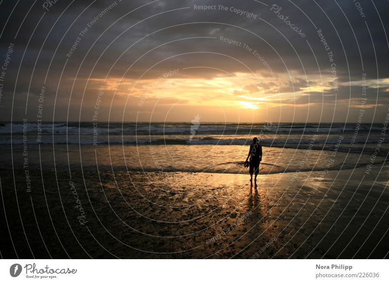 the time is now Harmonious Well-being Relaxation Calm Vacation & Travel Tourism Trip Far-off places Freedom Summer Beach Ocean Human being 1 Nature Sky Clouds
