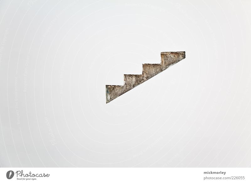 Stairway to nothing Deserted Building Architecture Wall (barrier) Wall (building) Concrete Exceptional Sharp-edged Colour photo Exterior shot Sunlight