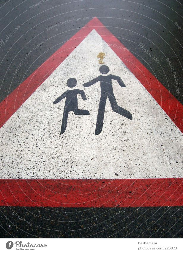 Clear the way for our future Pedestrian Street Road sign Sign Signage Warning sign Going Walking Running Small Safety Protection Attentive Life Dangerous
