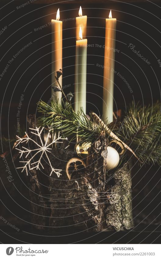 Advent wreath Elegant Style Design Winter Living or residing Flat (apartment) House (Residential Structure) Feasts & Celebrations Christmas & Advent Decoration