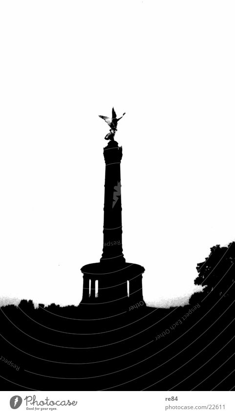 Victory Column Black White Landmark Historic Human being Architecture victory column Berlin Capital city