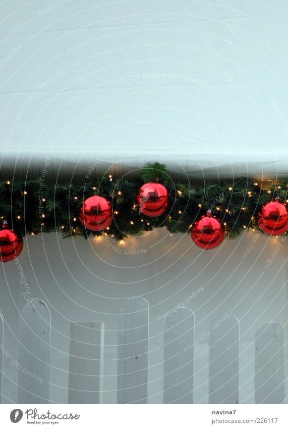 Christmas & Advent Red Loneliness Cold Decoration Sign Glitter Ball Fairy lights Fir branch