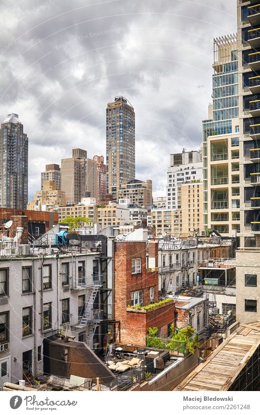 Manhattan residential district, New York City, USA. Sightseeing Summer Living or residing Flat (apartment) House (Residential Structure) House building Downtown