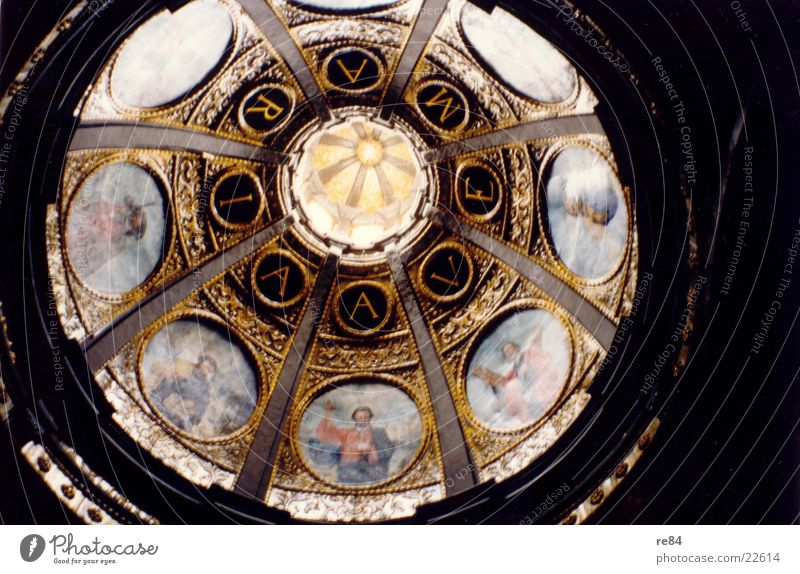 Ave Maria Italia Italy Roof Luxury Pattern Holy Round House of worship Religion and faith Gold Noble