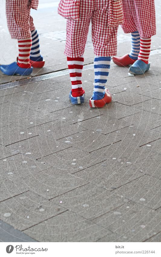 Human being Blue White Red Joy Happy Legs Feasts & Celebrations Group Feet Together Leisure and hobbies Stand Joie de vivre (Vitality) Stripe Event