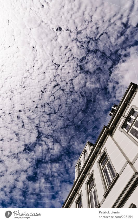 Sky Nature Blue White Beautiful Clouds House (Residential Structure) Window Environment Freedom Architecture Building Moody Bright Weather Facade