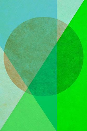 Blue Green Background picture Style Design Contentment Line Retro Elegant Esthetic Creativity Paper Circle Sign Round Illustration