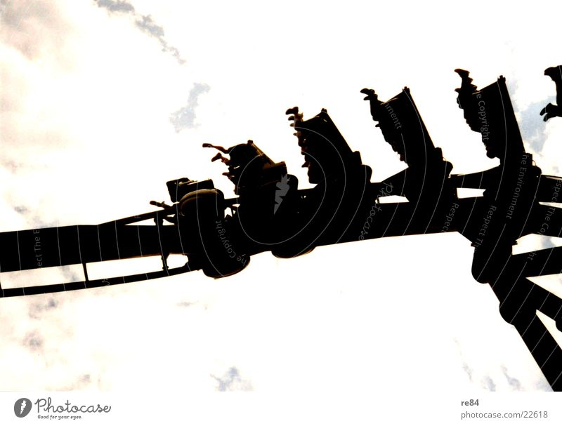 roller coaster Roller coaster Suspended Clouds Fairs & Carnivals Attraction Amusement Park Things Sky