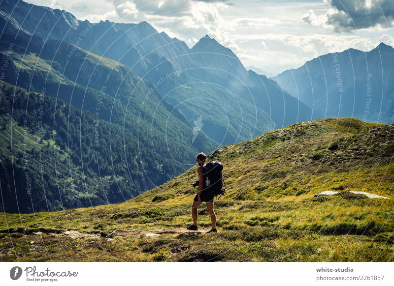 The Wanderer! Well-being Contentment Vacation & Travel Tourism Trip Adventure Far-off places Freedom Summer Summer vacation Mountain Hiking Young man