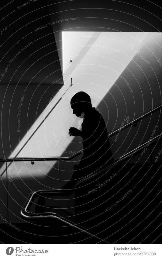 city ghost Stairs Going Walking Creepy Gray Black White Fear Dangerous Ghosts & Spectres  Illuminate Awareness Black & white photo Interior shot Light Shadow