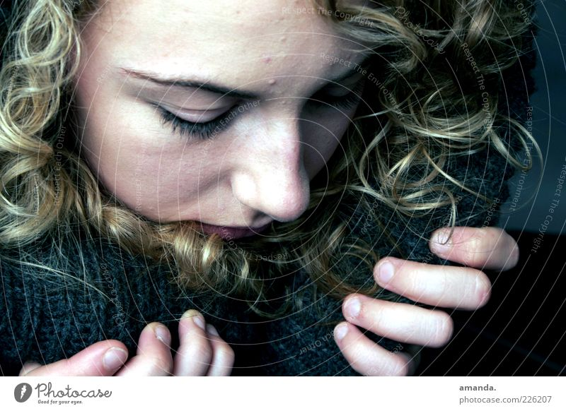 Human being Youth (Young adults) Beautiful Loneliness Feminine Cold Emotions Adults Sadness Think Dream Blonde Fear Natural Grief 18 - 30 years