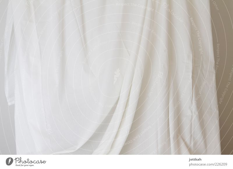 White Art Beginning Esthetic Empty Cloth Simple Clean Curiosity Wrinkles Laundry Rag Exhibition Sheet Innocent Truth
