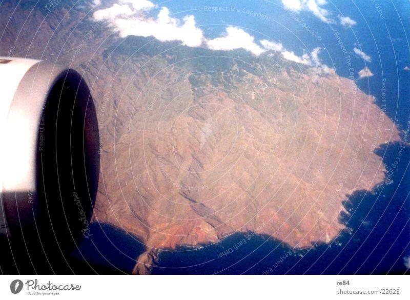 Sky Clouds Mountain Airplane Volcano Passenger Engines Tenerife