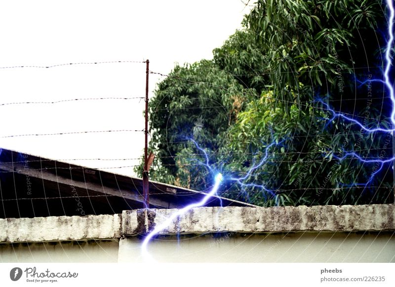 kill for you Wall (barrier) Foreign countries Lightning Wire Barrier Fence Threat Dangerous Risk Thunder and lightning House (Residential Structure) South