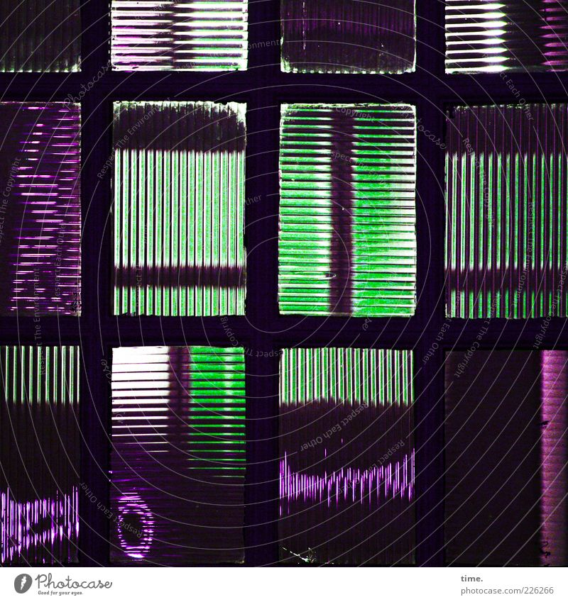 Daylight Memos Decoration Art Glass Green Violet Mysterious Inspiration Glass door textured glass Parallel Vertical Horizontal At right angles cassette window