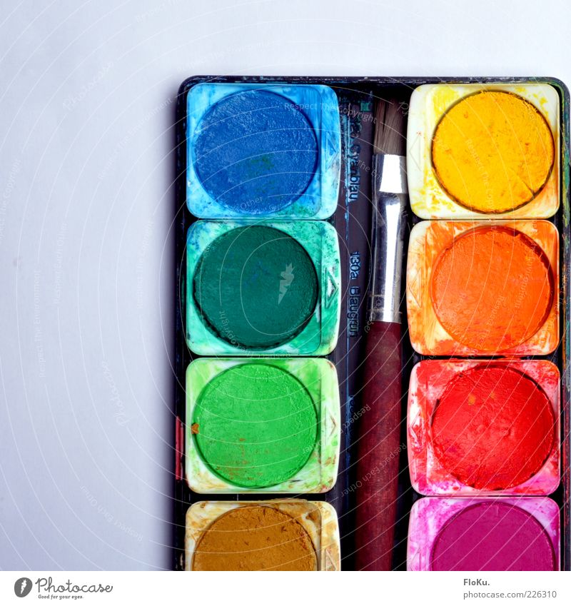 Colour Art Leisure and hobbies Creativity Paintbrush Flashy Perspective Second-hand Paints and varnish Ink Painting equipment Paintbox