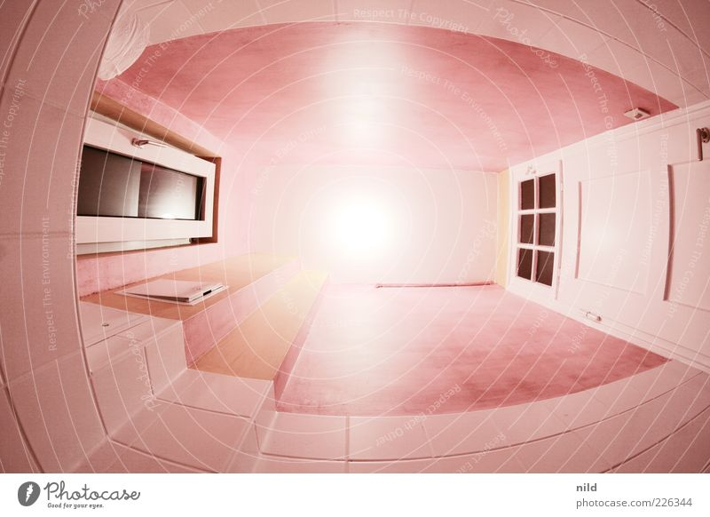 sebastians funky toilet Style Living or residing Flat (apartment) Bathroom Toilet Door Window Old building Bright Pink Tile Comforting Direct Colour photo