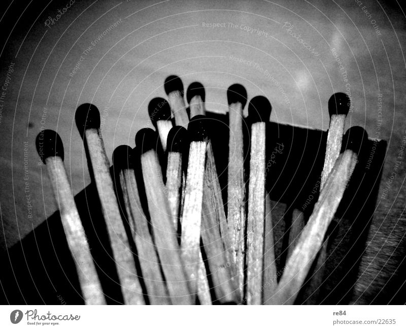 Nature White Black Dark Wood Bright Leisure and hobbies Blaze Flame Match Chopstick