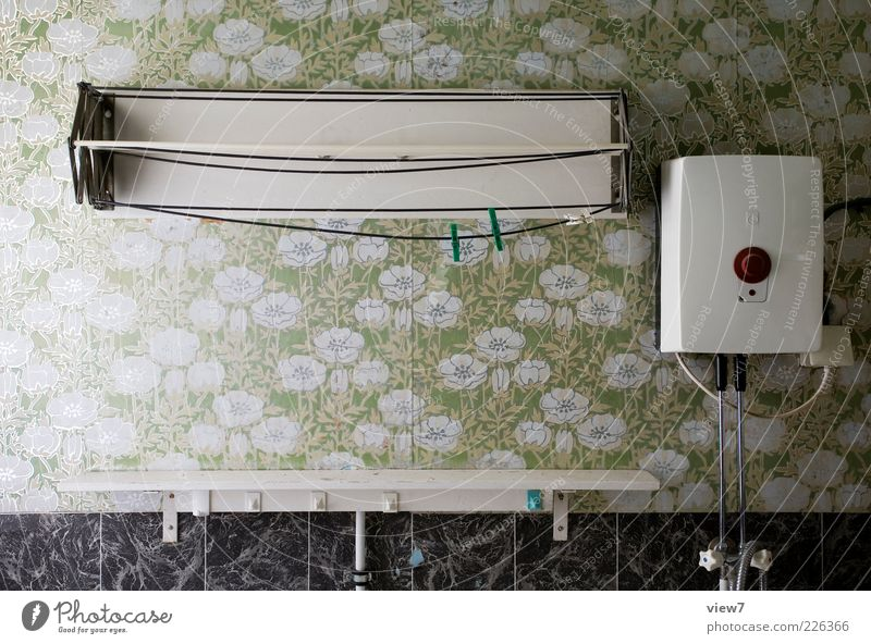 Old Green Loneliness Relaxation Above Line Room Interior design Stripe Retro Uniqueness Change Bathroom Decoration Transience End