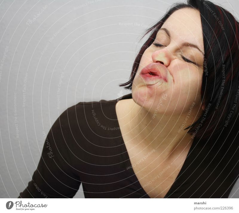 Woman Human being Adults Relaxation Feminine Head Funny Mouth Sleep Lips Fatigue Slice Exhaustion Stick Level Pane