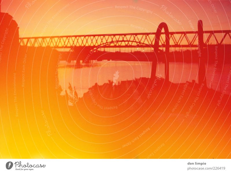 Red Summer Yellow Warmth Lamp Bright Orange Gold Fire Bridge Illuminate Warm-heartedness Harbour Hot Analog Beautiful weather