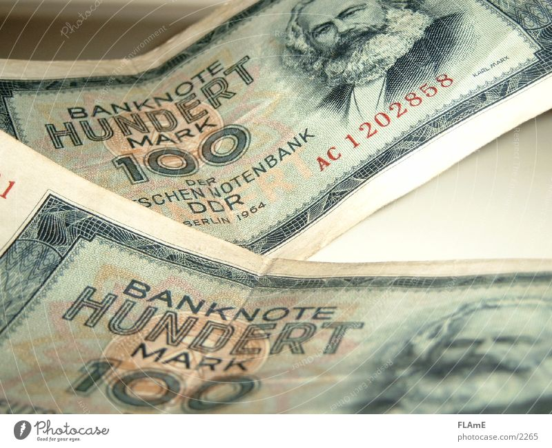 Money GDR Bank note Musical notes East