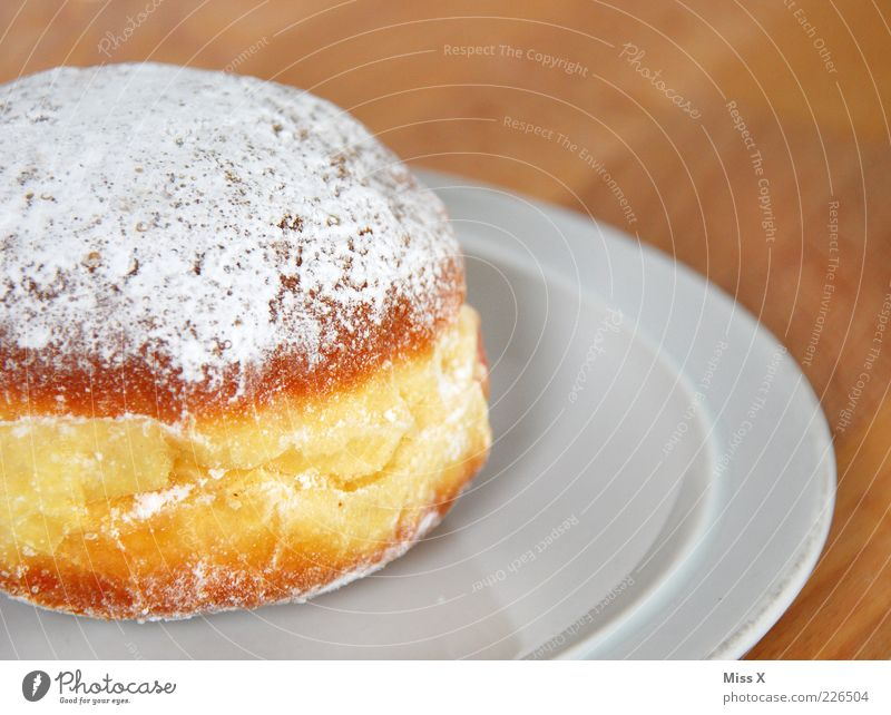 alaaaaaf Food Dough Baked goods Nutrition To have a coffee Plate Delicious Round Sweet Confectioner`s sugar Donut Fat Fatty food Colour photo Close-up Deserted